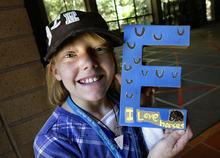 Scott Sommerdorf  |  The Salt Lake Tribune Ten year old burn survivor Elizabeth Watson of Mount Pleasant, shows off the
