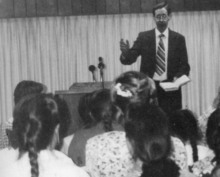 Warren Jeffs is seen in a photo from the 1995 Alta Academy yearbook. He was the principal of the school.