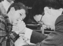 Warren Jeffs is seen in a photo from the 1994 Alta Academy yearbook. He was the principal of the school.