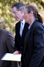Warren Jeffs is escorted into the Tom Green County Courthouse in San Angelo, Texas, on Monday, Aug. 8, 2011 for the continuing penalty phase of his sexual assault trial. Jurors convicted Jeffs last week of sexually assaulting two girls, ages 12 and 15, whom he had taken as brides. He faces up to life in prison.  Jeffs has led the Fundamentalist Church of Jesus Christ of Latter-Day Saints since 2002.  (AP Photo/ San Angelo Standard-Times, Patrick Dove)