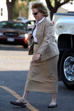 Disrict Judge Barbara Walther arrives atthe Tom Green County Courthouse in San Angelo, Texas, on Monday, Aug. 8, 2011, for the 12th day of the sexual assault trial of Warren Jeffs. Jeffs, the leader of the Fundamentalist Church of Jesus Christ of Latter-Day Saints, was found guilty on two counts of sexual assault of a child and could face up to 119 years in prison. (AP Photo/ San Angelo Standard-Times, Patrick Dove)