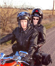 Courtesy photo Warren Jeffs riding a Harley-Davidson motorcycle.