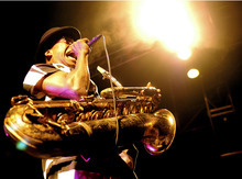 Angelo Moore of Fishbone, the African-American punk band featured in the documentary