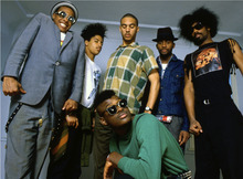 The members of Fishbone, the African-American punk band featured in the documentary