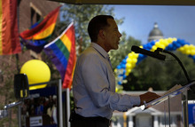 Scott Sommerdorf  |  The Salt Lake Tribune Joe Solmonese, Human Rights Campaign national president,  speaks at the launch of the