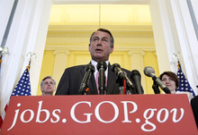 J. Scott Applewhite  |  Associated Press file photo Senate leaders announced recently that they had agreed on a course for passing a compromise version of a worker aid bill and the trade measures this fall. House Speaker John Boehner, R-Ohio, said the House is ready to go along.