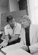 Associated Press file photo Scotty Robertson, right, the first coach for the Jazz in their inaugural season of 1974-75, died Thursday of cancer. Prior to the Jazz, Robertson coached at Louisiana Tech from 1964-74.