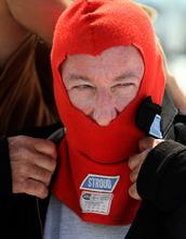 Rick Egan   |  The Salt Lake Tribune  Bobby Moore, Tulsa, Oklahoma, prepares for a run at the Bonneville Salt Flats, Thursday, August 18, 2011.  Moore drive the car