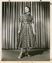 Salt Lake Tribune file photo  A model poses in a dress in this fashion photo from The Salt Lake Tribune archives. The photo is dated from 1950.