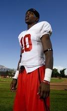 Trent Nelson  |  The Salt Lake Tribune Utah wide receiver DeVonte Christopher poses for a portrait after practice in Salt Lake City, Utah, Wednesday, August 17, 2011.