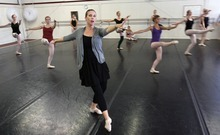 Steve Griffin  |  The Salt Lake Tribune  Former Ballet West dancer Jessica Harston teaches her ballet students at Classical Ballet Academy in Provo on Friday, Aug. 12.
