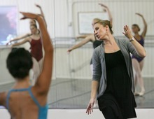 Steve Griffin  |  The Salt Lake Tribune Former Ballet West dancer Jessica Harston Thompson teaches her ballet students at Classical Ballet Academy in Provo.