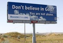 Trent Nelson  |  The Salt Lake Tribune A billboard sponsored by ReasonUtah.org reads,