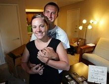 STEVE GRIFFIN  |  The Salt Lake Tribune Newlyweds Justin and Amber McKnight, in their new apartment in Taylorsville, expect their marriage to be ever-lasting. Census data show that Utah marriages are durable, with a median length longer than in any state save Wyoming.