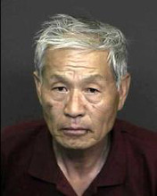 Courtesy Denver Post  Joong Rhee, 67, is charged with Park's murder in a Denver court.