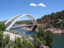 US 191 bridge near Flaming Gorge Reservoir.