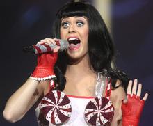 Rick Egan   |  The Salt Lake Tribune  Katy Perry performs at EnergySolutions Arena,  Monday, July 25, 2011