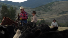 Courtesy of KSL Bob Van Dyke, left, and Jerry Craguan learn about calf roping on KSL's