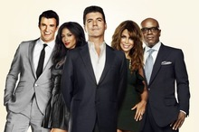 THE X FACTOR: THE X FACTOR, hosted by Steve Jones and featuring judges Simon Cowell, Paula Abdul, L.A. Reid and Nicole Scherzinger,  will award the next superstar solo artist or breakout musical group with a $5 million recording contract with Syco/Sony Music. THE X FACTOR will air on FOX. Pictured L-R: Steve Jones, Nicole Sherzinger, Simon Cowell, Paula Abdul and L.A. Reid. CR: FOX