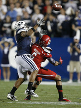 Trent Nelson | The Salt Lake Tribune  BYU defensive back Preston Hadley (7) defends Utes wide receiver Dres Anderson (6) during BYU's game against Utah at Lavell Edwards Stadium in Provo, Utah September 17, 2011.