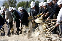 Francisco Kjolseth  |  The Salt Lake Tribune The Veterans Affairs Salt Lake City Health Care System and the Salt Lake City Housing Authority break ground on Valor House, a transitional housing facility for homeless Veterans, on Tuesday, September 27, 2011. The new building will be built at the rear of the VA hospital, next to Sunnyside Park.