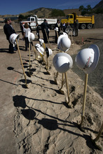 Francisco Kjolseth  |  The Salt Lake Tribune  Shovels and hard hats remain following a ceremony in which the Veterans Affairs Salt Lake City Health Care System and the Salt Lake City Housing Authority broke ground on Valor House, a transitional housing facility for homeless Veterans, on Tuesday. The new building will be built behind the VA Hospital near Sunnyside Park.