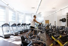 Trent Nelson  |  The Salt Lake Tribune Todd Bowen works out recently in the fitness room at the Gene Fullmer Recreation Center in West Jordan.
