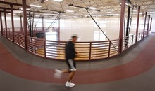 Trent Nelson  |  The Salt Lake Tribune The indoor jogging track at the Gene Fullmer Recreation Center in West Jordan.