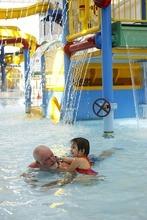 Trent Nelson  |  The Salt Lake Tribune Rob Burrans plays with his granddaughter Brooklyn Barnett in the pool at the Gene Fullmer Recreation Center in West Jordan on Wednesday, Sept. 7, 2011.