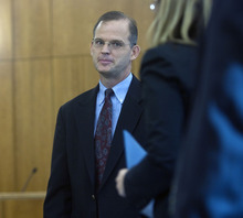 Al Hartmann  |  The Salt Lake Tribune Provo City Councilman Steve Turley appears in Judge Christine Johnson's 4th District Court in American Fork on Tuesday September 13.