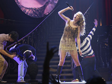 Lennie Mahler  |  The Salt Lake Tribune Taylor Swift performs in the Speak Now World Tour 2011 at EnergySolutions Arena in Salt Lake City, Utah. Wednesday, Sept. 28, 2011.