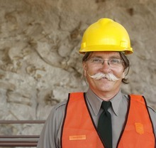 Trent Nelson  |  The Salt Lake Tribune Paleontologist Dan Chure in the quarry building at Dinosaur National Monument, Utah, Wednesday, September 28, 2011. The new building is set to reopen on Tuesday after a long remodel.