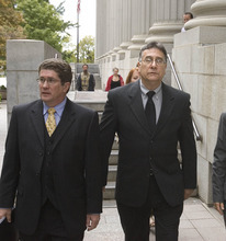 Paul Fraughton   The Salt Lake Tribune  Former Bugman Pest and Lawn employee Cole Nocks, right, pleaded guilty Tuesday to breaking federal pesticide laws in a case tied to the deaths last year of two Layton girls. Here, he leaves the federal courthouse in Salt Lake City with his lawyer, Robert Steele.