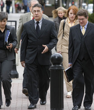 Paul Fraughton   The Salt Lake Tribune  Coleman Nocks, who worked at  Bugman Pest and Lawn, center,  with his lawyer, Robert Steele, right, walks into federal court in Salt Lake City on Tuesday, where he entered a guilty plea to breaking federal pesticide laws in a case tied to the deaths last year of two Layton girls.