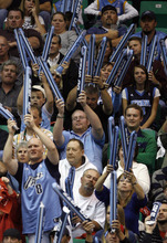 Tribune file photo Jazz fans pound inflatable noise makers together as the try to disrupt Allen Iverson of the Nuggets as he shoots free throws during the Jazz NBA home opener against the Denver Nuggets at EnergySolutinos Arena in 2008.
