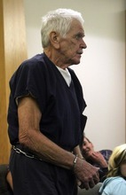 Rick Egan  | The Salt Lake Tribune   Charles Edward Dodd enters the Eighth District Court, in Duchesne, Thursday, October 13, 2011.  Dodd, 75, is charged with first-degree felony murder for the death of his ill wife. He allegedly tried to commit suicide after killing her.