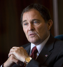 Tribune File Photo Gov. Gary Herbert denies allegations he is trying to improve his own re-election chances by pushing for a friendlier congessional district map for Rep. Jim Matheson. He said is interest in redistricting maps that are fair for all.