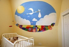 Trent Nelson  |  The Salt Lake Tribune A nursery room inside the Up house, modeled after the home from the Pixar film