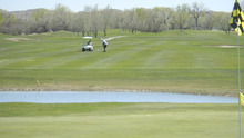 Tom Wharton  |  The Salt Lake Tribune Todd McFarland, of East Carbon, hits shot on ninth hole of Green River State Park golf course, which is threatened with closure.