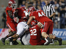 Trent Nelson | Tribune file photo Utes play against BYU at Lavell Edwards Stadium in Provo in September.