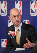NBA Deputy Commissioner Adam Silver speaks during a news conference following NBA basketball labor talks on Thursday, Oct. 20, 2011, in New York.(AP Photo/Frank Franklin II)