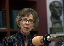 Al Hartmann  |  The Salt Lake Tribune Nancy Conway, editor of The Salt Lake Tribune, speaks during a panel discussion,