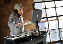 Sarah A. Miller  |  The Salt Lake Tribune  DJ Elvis Freshley sets up at Silver on Main Street in Park City on Saturday, May 21, 2011.