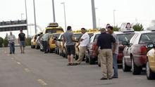 Francisco Kjolseth     The Salt Lake Tribune The taxi dispatch line at the Salt Lake airport. (file photo)