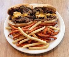 Rick Egan  | The Salt Lake Tribune   The Philly cheese steak sandwich at Penny Ann's Cafe, 1810 S. Main, Salt Lake City.