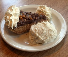 Rick Egan  | The Salt Lake Tribune  Penny Ann's Cafe, at 1810 S. Main in Salt Lake City, serves simple, well-executed American and Italian comfort foods. Come for the great sandwiches like the Reuben but stay and linger over the exceptional made-from-scratch pies. Pictured, chocolate and peanut butter pie a la mode.