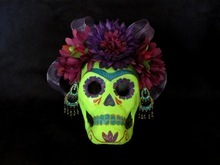 Veronica Perez celebrates her Mexican culture through her Day of the Dead art that puts a modern spin on the traditional images of skeletons and skulls. Courtesy of Veronica Perez