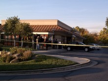 Leah Hogsten | The Salt Lake Tribune A Salt Lake City police officer was involved in a shooting Friday in a McDonald's parking lot.