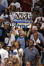 Rick Egan | The Salt Lake Tribune  Jazz fans cheer as the Jazz face the Lakers in the game three of the second round of the playoffs at EnergySolutions Arena Saturday, May 8, 2010.
