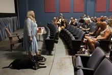 Chris Detrick | The Salt Lake Tribune  Joyce McKinney arrives for a Q & A at the Broadway Centre Cinemas after a screening of